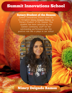 Rotary Student of the month, Nimcy Delgado Ramos