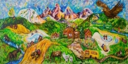 Painting of Alta School created by students