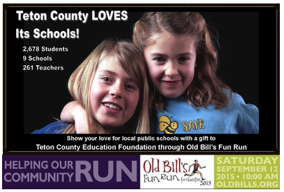 Old Bill's Fun Run ad with picture of young girls