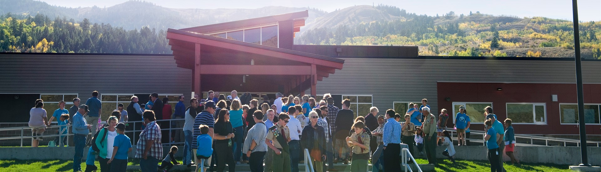 Guests at ribbon cutting event enjoy a beautiful day, celebrate new Munger Mountain elementary school