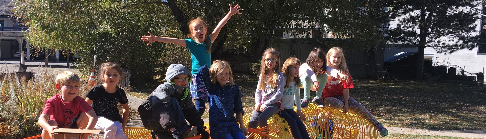 Students on the Alta Elementary School playground