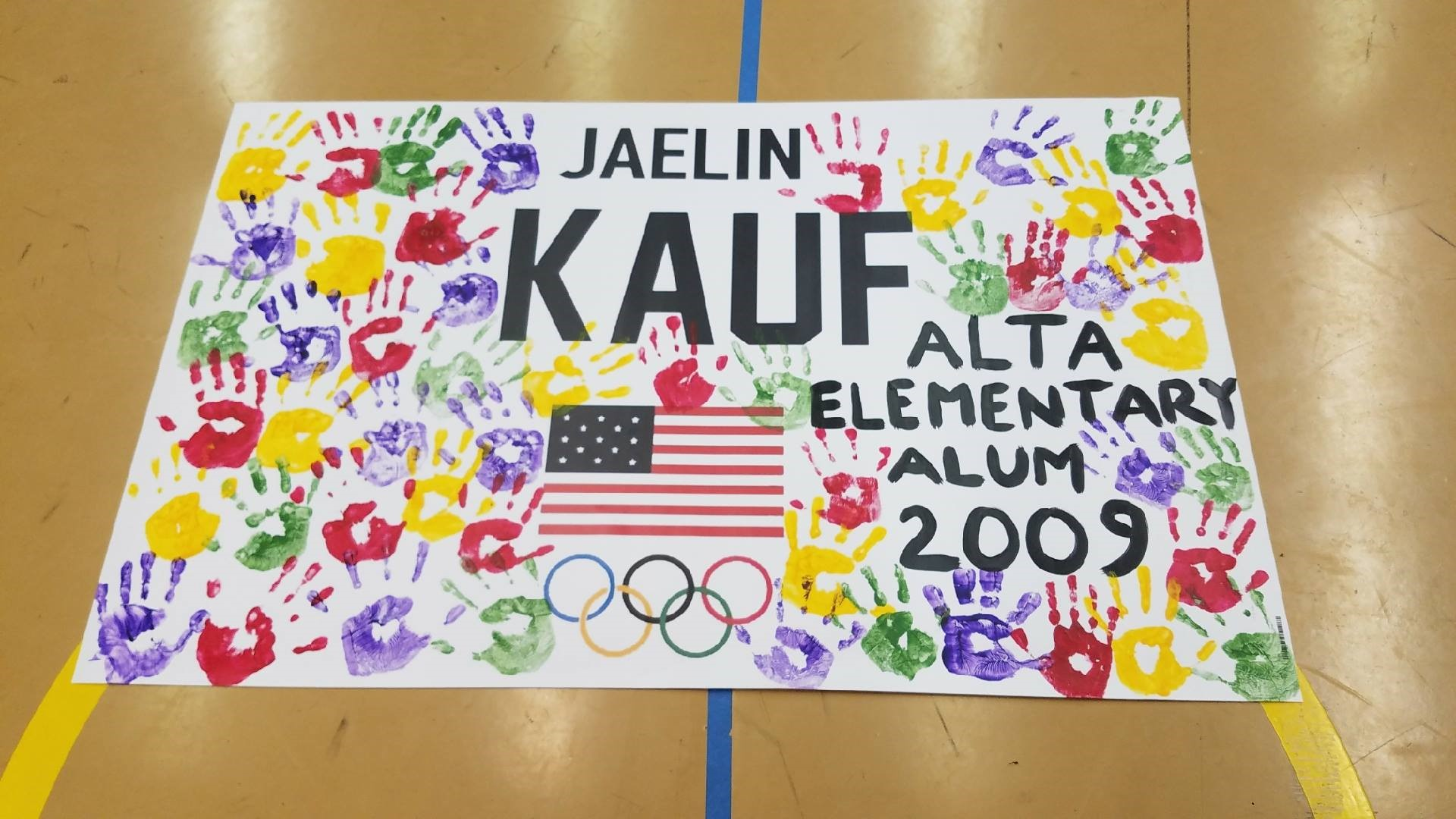 poster of Alta Elementary support of Jaelin Kauf
