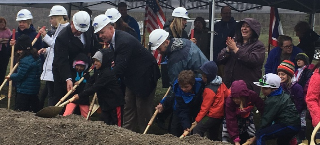 Groundbreaking at Munger Mountain