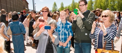 Photo of TCSD #1 parents taking photographs
